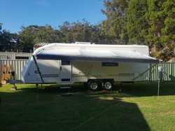 Setup for fee camping, new 190l 12v fridge, full annex, 12 months rego. 0477 532 519.