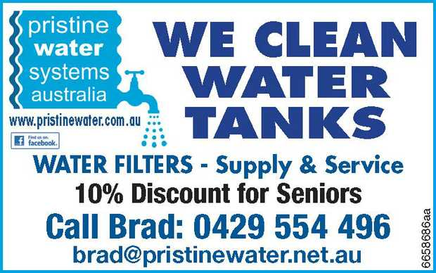 WE CLEAN WATER TANKS