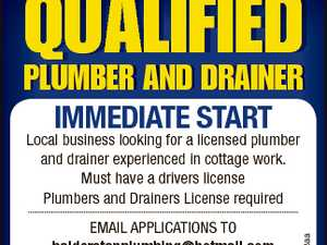 QUALIFIED PLUMBER AND DRAINER