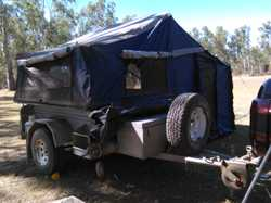 Trailer 2.2mt x 1.3mt, unfolds to 2.2mt x 3mt. Heavy duty Canvas, Add on annex of same size with lar...