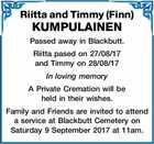 Riitta and Timmy (Finn) KUMPULAINEN