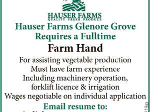 Fulltime Farm Hand