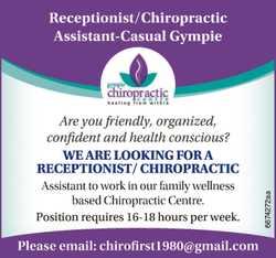 Chiropractic receptionist
