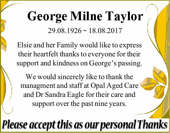 29.08.1926 ~ 18.08.2017