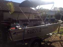 4.2m Quintrex Dory Tohatsu  30hp 2 stroke 2008 serviced every year. Lowrance depth finder Gps UHF ra...