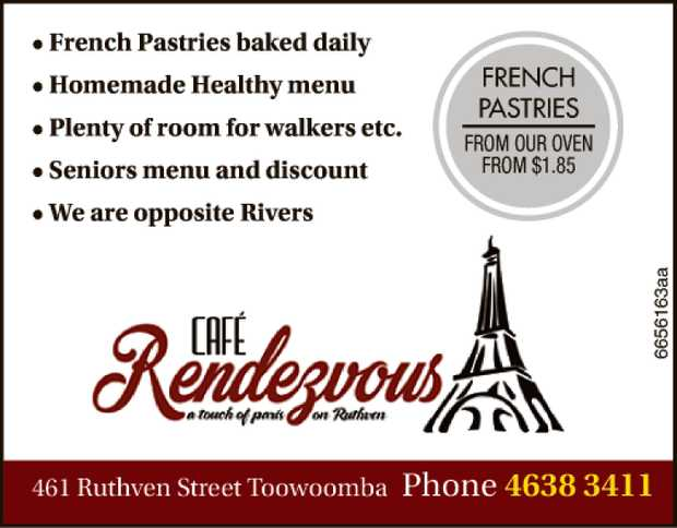 • French Pastries baked daily