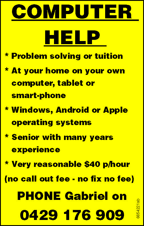 Problem solving or tuition * At your home on your own computer, tablet or smart-phone...