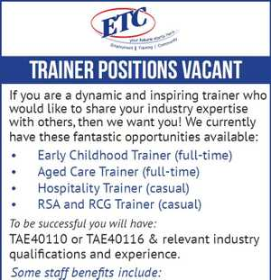 Trainers required