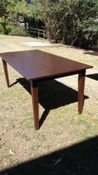 Dining table - 6 seater, wood $60, P/UP, NTH Ipswich 0413005532