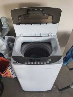 For sale:   - Haier HWMP559918 Washing Machine. - Used for 6 months, in perfect condition.