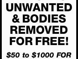 ALL CARS UNWANTED & BODIES REMOVED FOR FREE!