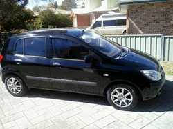 HYUNDAI Getz,  2006 model,  hatch,  black,  good tyres,  good on fue...