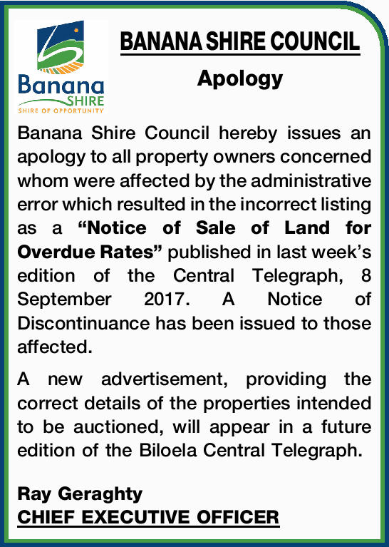 Apology