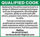 QUALIFIED COOK