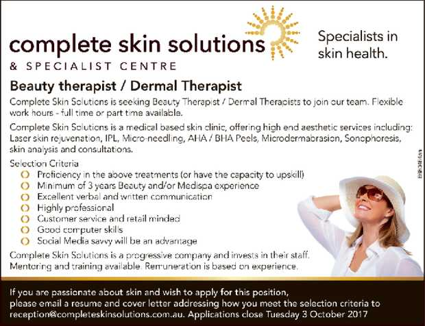 Beauty therapist / Dermal Therapist