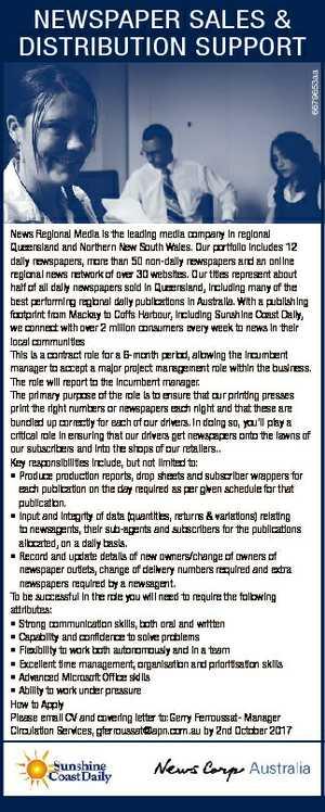 Newspaper sales & distribution support