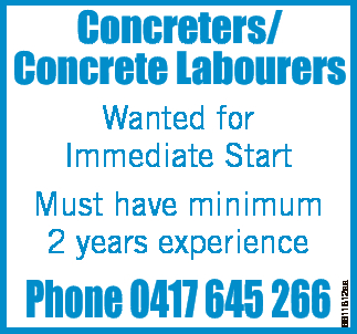 Concreters/ Concrete Labourers