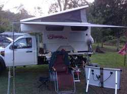 Slide on Pop-Top Camper, with Ford Ranger 4x4  Turbo Diesel 5speed Manual Ute, travelled 164,000 klm...