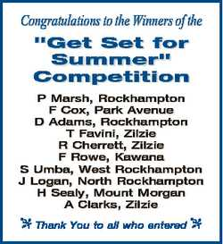 """Congratulations to the Winners of the """"Get Set for Summer"""" Competition P Marsh, Rockhampto..."""