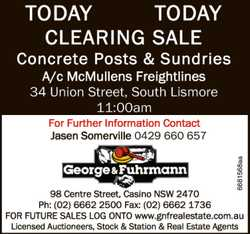 Concrete Posts & Sundries   A/c Mcmullens Freightlines - 34 Union Street, South Lismore 1...