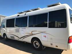 TOYOTA Coaster 4.2l diesel, 1997, immac cond', self sufficient for free camping car licence...