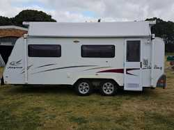 "2008 Jayco Sterling 18'6"" poptop, sngle beds, shr/toil, 90L 3 way fridge, A/C, m/wave,..."