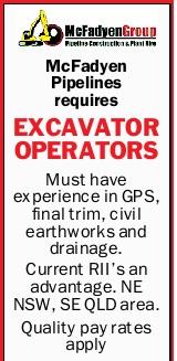 McFadyen Pipelines requires EXCAVATOR OPERATORS   Must have experience in GPS, final trim, ci...