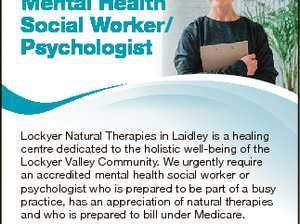 Professional Mental Health Social Worker/ Psychologist If you are ready to exercise your therapeutic and creative skills to benefit others in a peaceful, supportive and rejuvenating environment, then please call us on 5465 1851 and send your resume to LNT.resumes@gmail.com by Friday 29 September. 6675892aa Lockyer Natural ...
