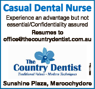 CASUAL DENTAL NURSE   Experience an advantage but not essential/Confidentiality assured   ...