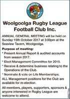 Woolgoolga Rugby League Football Club Inc.