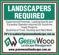 LANDSCAPERS REQUIRED 