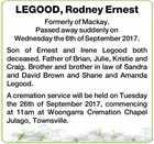 LEGOOD, Rodney Ernest