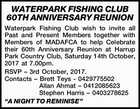 WATERPARK FISHING CLUB 60TH ANNIVERSARY REUNION