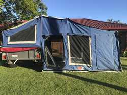 15 ft Off road deluxe MDC camper  - Fully powder coated  - Extended kitchen bench  - 80 L water tank...