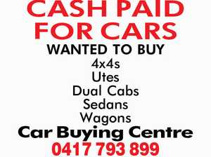 CASH PAID FOR CARS