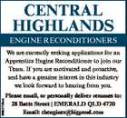Apprentice Engine Reconditioner