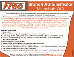 Branch Administrator Moranbah, OLD Freo Group is looking to fill the position of a Branch Adminis...