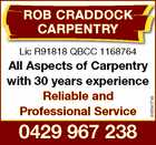 ROB CRADDOCK CARPENTRY