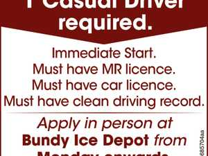 1 Casual Driver required