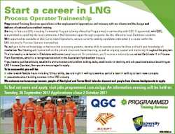 Start a career in LNG Start a career in LNG Process Operator Traineeship Programmed Training Service...