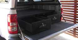 2 x plywood draws to suit 4 door ute, colorado/isuzu/nissan,carpet lined with wings and locks. 13...