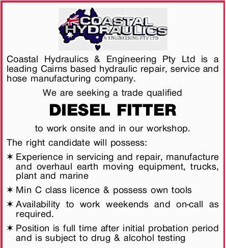 Coastal Hydraulics & Engineering Pty Ltd is a leading Cairns based hydraulic repair, service...