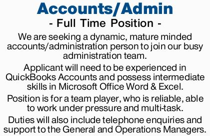 - Full Time Position - 