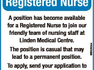 A position has become available for a Registered Nurse to join our friendly team of nursing staff at Linden Medical Centre. The position is casual that may lead to a permanent position. To apply, send your application to cassie.r@lindenmed.com.au 6683053aa Registered Nurse