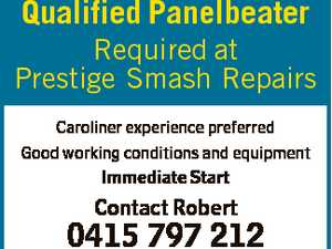 Qualified Panelbeater Required at Prestige Smash Repairs Caroliner experience preferred Good working conditions and equipment Immediate Start Contact Robert 0415 797 212 Resumes to robert.modolo@bigpond.com
