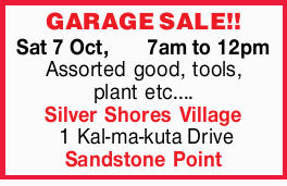 GARAGE SALE!!