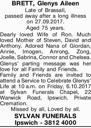 BRETT, Glenys Aileen 