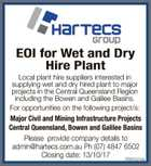 EOI for Wet and Dry Hire Plant