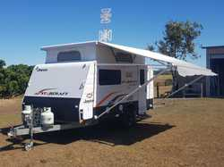 Twin beds, air con, gas/elect stove & hot water system, external shower, 2x85 lt water tanks, solar...