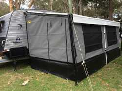 Custom annexes-mesh walls, roll out awnings repaired & replaced